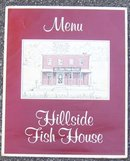Vintage Menu Hillside Fish House, Fountain City, WI