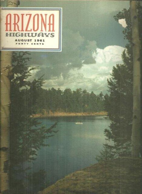 Arizona Highways Magazine August 1961 Lakes For Fishing