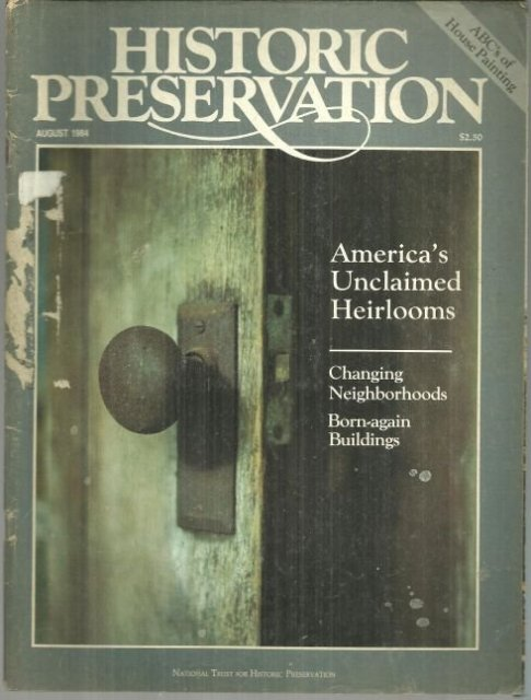 Historic Preservation Magazine August 1984 Madison Ave