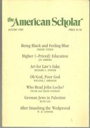 American Scholar Journal Autumn 1989 Reading John Locke