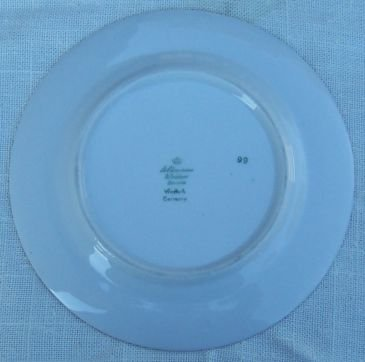 Vintage Germany Small Plate With Green and Gold Trim