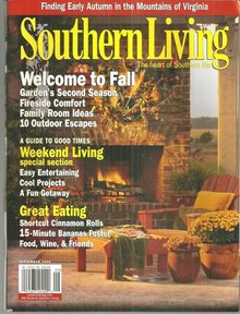 Southern Living Magazine September 2006 Welcome to Fall