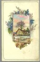 Victorian Trade Card For Capital Coffee with Violets