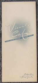Vintage Menu Vienna Cafe 1109 Third Ave Eliot 9291 1943