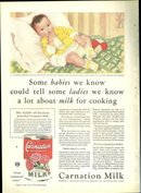 1932 Good Housekeeping Color Advertisment for Carnation Milk Helen Carter