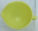 Vintage Hazel Atlas Glass Creamer in Chartreuse Color