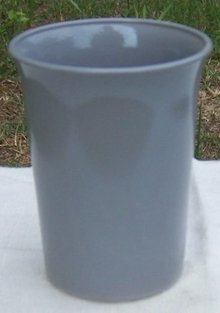 Vintage Hazel Atlas Glass Ovide Tumbler in Gray