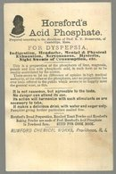 Victorian Trade Card for Horsfords Acid Phosphate For Dysepepsia with Girl