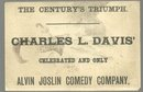 Victorian Trade Card for Chas L. Davis as Alvin Joslin, Uncle Alvin Abroad