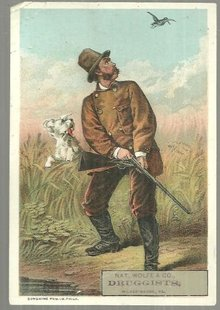 Victorian Trade Card for Nat. Wolfe & Co. with Hunter