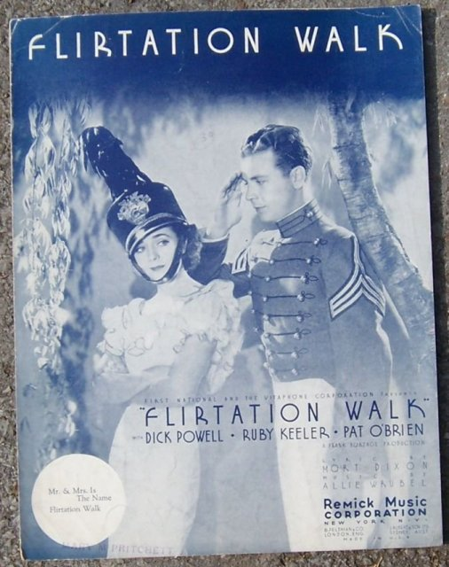 Flirtation Walk starring Dick Powell and Ruby Keeler 1934 Sheet Music