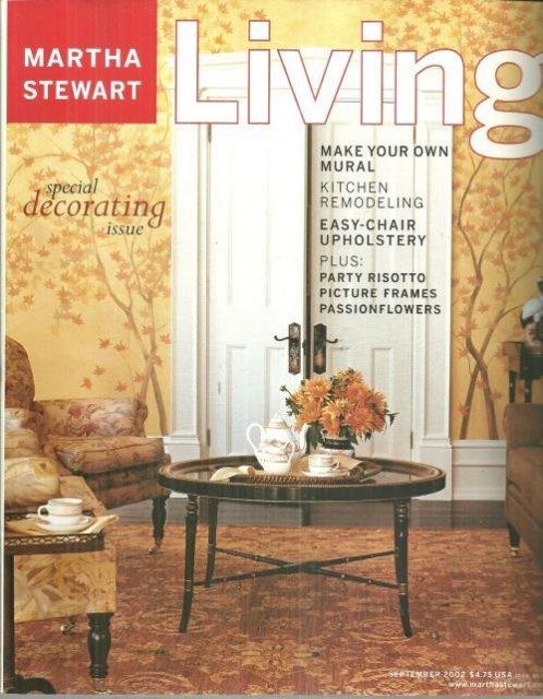 Martha Stewart Living Magazine September 2002 Special Decorating Issue