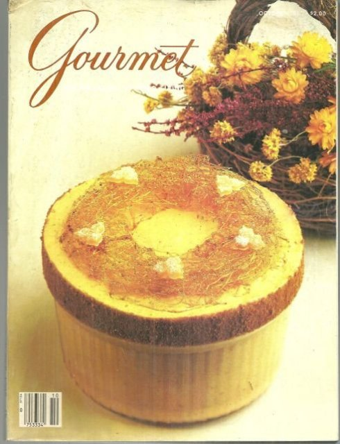 Gourmet Magazine October 1985 Chilled Pumpkin Ginger Souffle On Cover