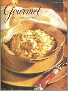 Gourmet Magazine October 1995 Butternut Squash Risotto On Cover