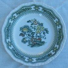 Vintage Mason's Ironstone Green Transferware Manchu Small Plate