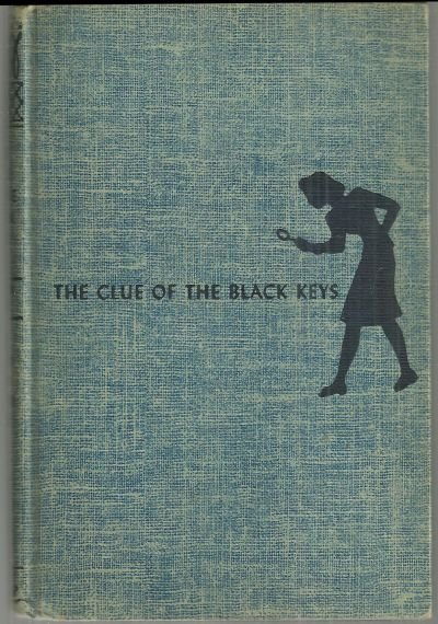 Clue of the Black Keys by Carolyn Keene Nancy Drew #28 Blue Tweed Cover 1951