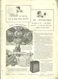 1932 Good Housekeeping Advertisment for Libby's Corned Beef A Perfect Food