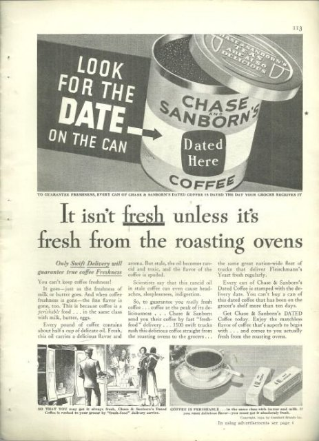 1932 Good Housekeeping Advertisment for Chase and Sanborn's Coffee
