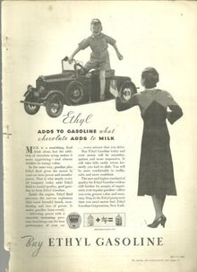 1932 Good Housekeeping Advertisment for Ethyl Gasoline