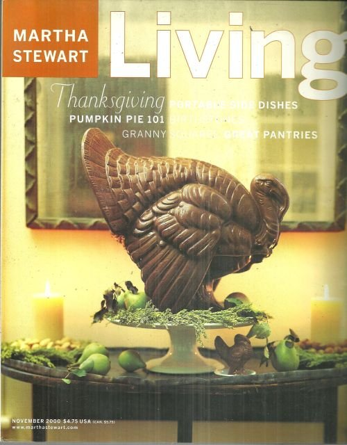 Martha Stewart Living November 2000 Thanksgiving in Ojai