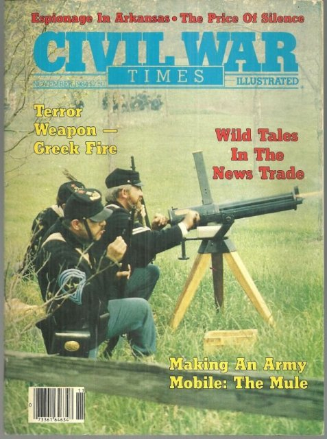 Civil War Times Magazine November 1984 Chattanooga's Daily Rebel