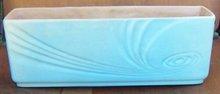 Vintage Roseville Pottery Florane Window Box Planter 96-10 Blue Glaze