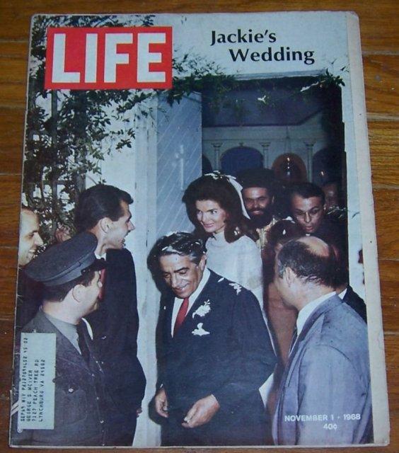 Life Magazine November 1, 1968 Jackie's Wedding on cover