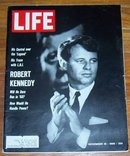 Life Magazine November 18, 1966 Robert Kennedy on the Cover