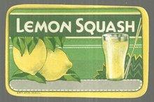 Vintage Lemon Squash Drink Label