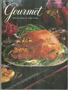 Gourmet Magazine November 1995 Turkey with Sausage Stuffing Thanksgiving