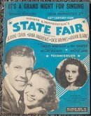 It's a Grand Night for Singing From State Fair Jeanne Crain 1945 Sheet Music