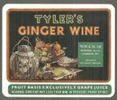 Vintage Label for Tyler's Ginger Wine, London