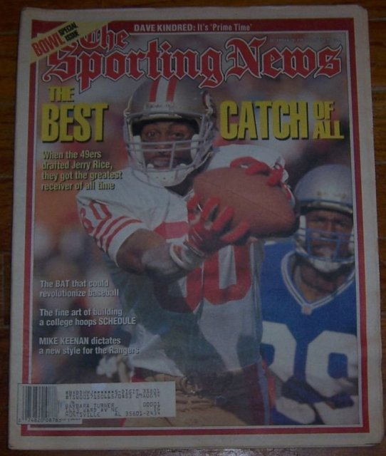 Sporting News Magazine December 20, 1993 Jerry Rice on the Cover