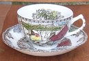 Vintage Johnson Brothers China Friendly Village Ice House Cup and Saucer