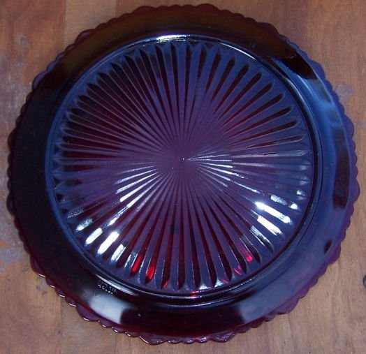 Vintage Avon Cape Cod Ruby Red Glass Dinner Plate