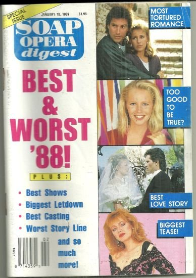Soap Opera Digest Magazine January 10, 1989 Best and Worst of 1988 Issue