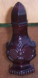 Vintage Avon Cape Cod Ruby Red Glass Shaker