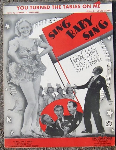 You Turned the Tables on Me From Sing Baby Sing Starring Alice Faye 1936 Music