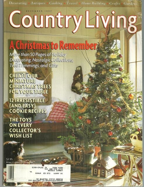 Country Living Magazine December 1997 A Christmas to Remember on the Cover