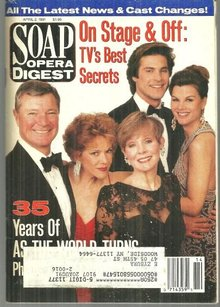 Soap Opera Digest April 2, 1991 35 Years of ATWT on the Cover