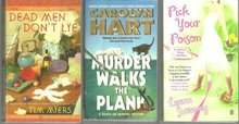 Lot of Three Cozy Mysteries Carolyn Hart, Tim Myers, and Leann Sweeney