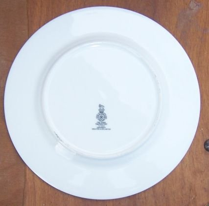 Vintage Royal Doulton China Tapestry Pattern Luncheon Plate