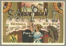 Victorian Trade Card for Soapine with Soapine Spelled Out on Fireplace Mantel