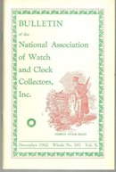 Bulletin of the National Association of Watch and Clock Collectors December 1962