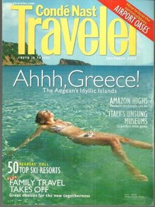 Conde Nast Traveler Magazine December 2002 Secrets of the Aegean