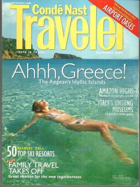 Conde Nast Traveler Magazine December 2002 Secrets of the Aegean