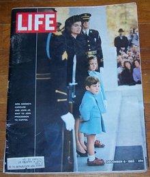 Life Magazine December 6, 1963 Mrs. Kennedy, Caroline and John Jr. at Funeral