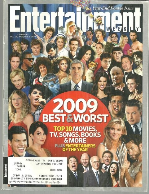 Entertainment Weekly Magazine December 25, 2009 2009 Best and Worst on the Cover