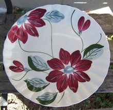 Vintage Blue Ridge Pottery Poinsettia Dinner Plate