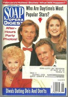 Soap Opera Digest Magazine February 4, 1992 Daytime's Most Popular Stars Cover